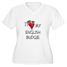 I Love My English Budgie T-Shirt