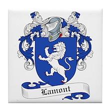 Lamont Family Crest Tile Coaster