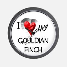 I Love My Gouldian Finch Wall Clock