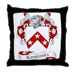 Langlands Family Crest Throw Pillow