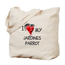 I Love My Jardines Parrot Tote Bag
