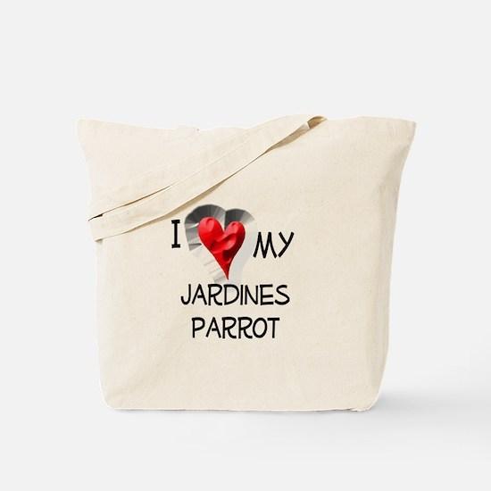 I Love My Jardines Parrot Tote Bag