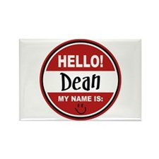 Hello My Name is Dean Rectangle Magnet