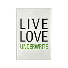 Live Love Underwrite Rectangle Magnet
