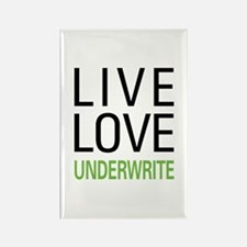 Live Love Underwrite Rectangle Magnet