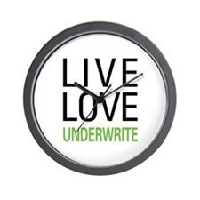 Live Love Underwrite Wall Clock