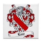 Law Family Crest Tile Coaster