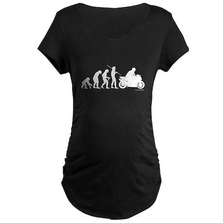 Biker Evolution Maternity Dark T-Shirt