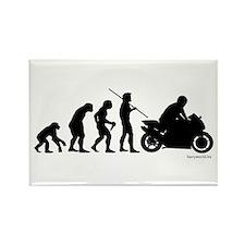 Biker Evolution Rectangle Magnet (10 pack)