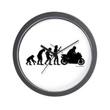 Biker Evolution Wall Clock