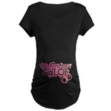 sailor_babybump_pink Maternity T-Shirt