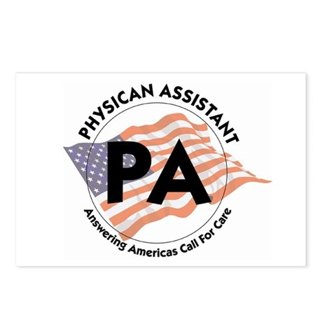 Patriotic Physician Assistant Postcards (Package o