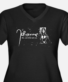 Joan of Arc (Act, and God wil Women's Plus Size V-