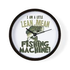 Lean Mean Fishing Machine Wall Clock