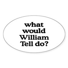 William Tell Oval Decal