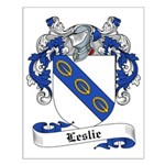Leslie Family Crest Small Poster