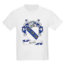 Leslie Family Crest Kids T-Shirt