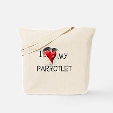 I Love My Parrotlet Tote Bag
