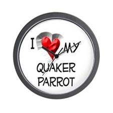 I Love My Quaker Parrot Wall Clock
