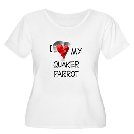 I Love My Quaker Parrot Women's Plus Size Scoop Ne
