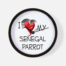 I Love My Senegal Parrot Wall Clock