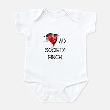 I Love My Society Finch Infant Bodysuit