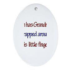 Ian Has Grandma Oval Ornament