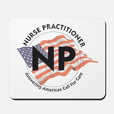 Patriotic Nurse Practitioner Mousepad