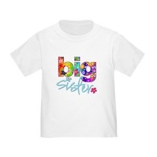big sister t-shirt flower T