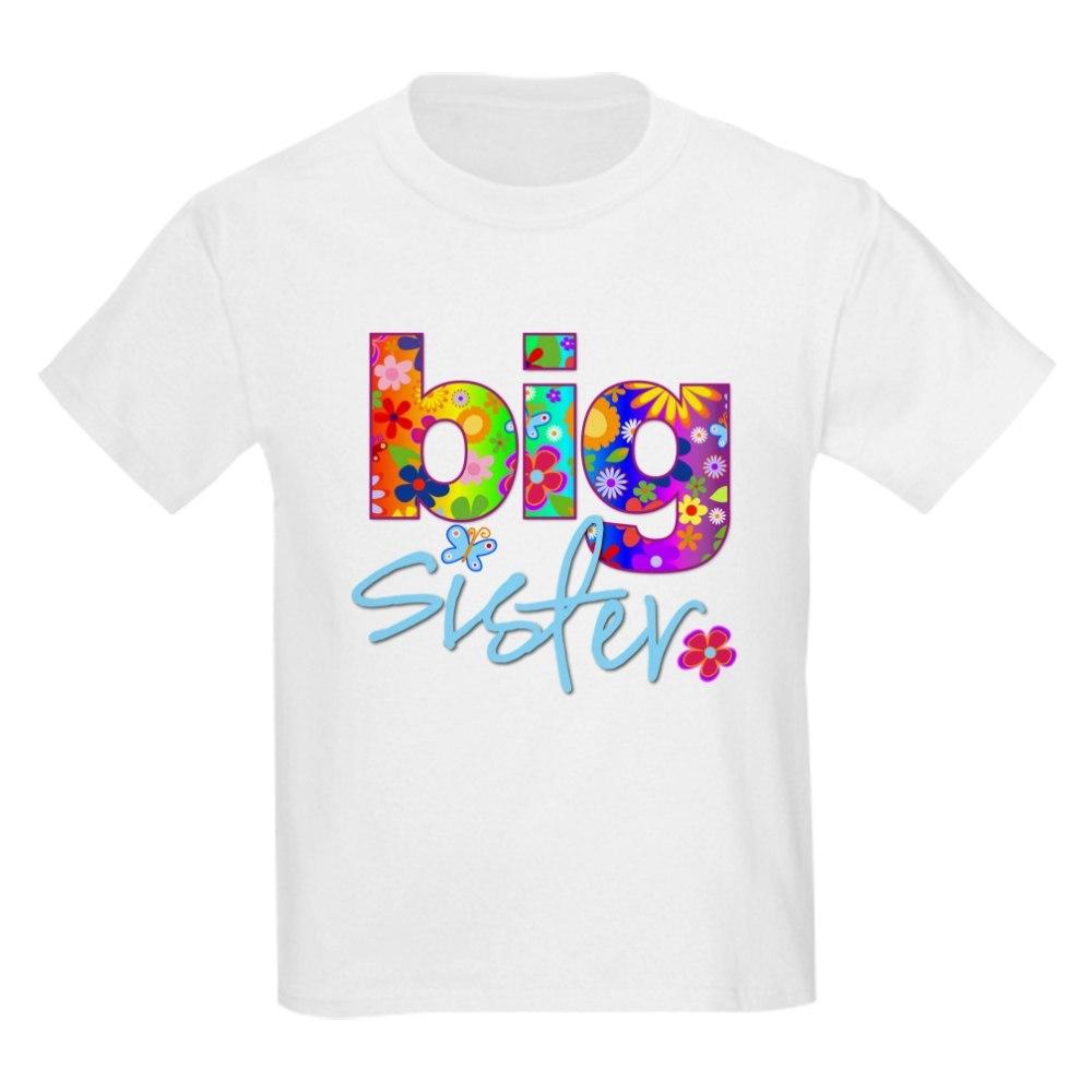 CafePress big sister t-shirt flower Kids Light T-Shirt
