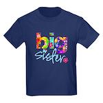 big sister t-shirt flower Kids Dark T-Shirt