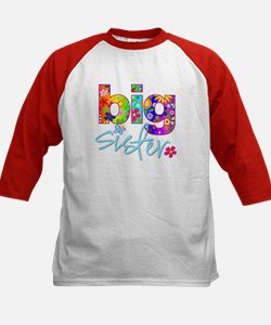 big sister t-shirt flower Kids Baseball Jersey