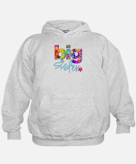 big sister t-shirt flower Hoody