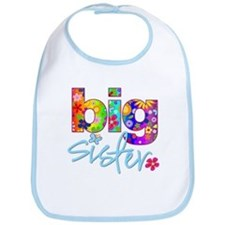 big sister t-shirt flower Bib