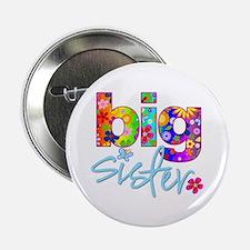 """big sister t-shirt flower 2.25"""" Button"""