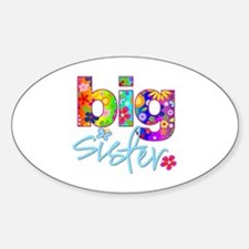 big sister t-shirt flower Oval Decal