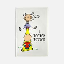 I Teeter Totter Rectangle Magnet (10 pack)