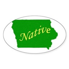 Iowa native Oval Decal
