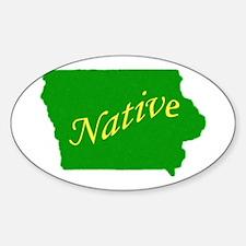 Iowa native Oval Stickers