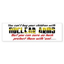 Hug Nuclear Arms Bumper Bumper Sticker