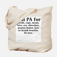 Will PA for love Tote Bag