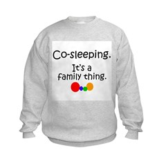 Co-sleeping family Kids Sweatshirt