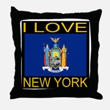 I Love New York Throw Pillow