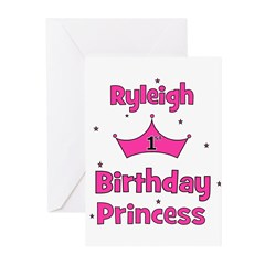 1st Birthday Princess Ryleigh Greeting Cards (Pk o