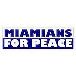 Miamians for Peace (bumper sticker)