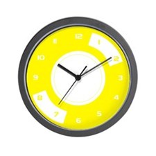 Yellow Stylised Vinyl Wall Clock