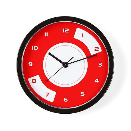 Red Stylised Vinyl Wall Clock