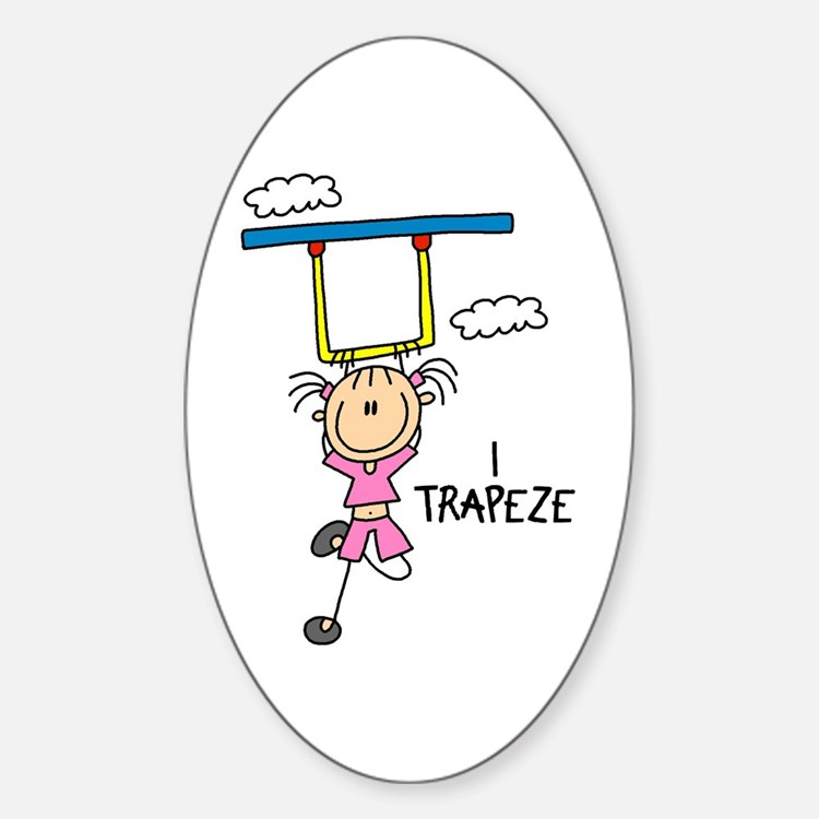 I Trapeze Oval Decal