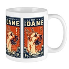 Obey the Great Dane! Coffee Small Mugs