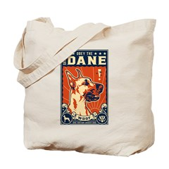 Obey the Great Dane! Tote Bag